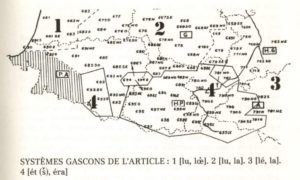 Carte linguistique des articles Eth Era Lo la le ALG