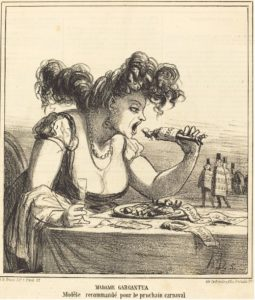 Mme Gargantua par Daumier