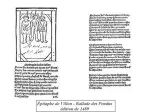 Ballade des pendus, Villon