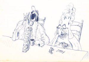 Dessins de J.-C. Dinguirard - Faustroll Eveque marin Mensonger