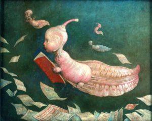 Verlinde, Claude. Le têtard, la lecture. 1997